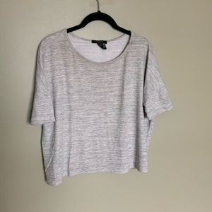 Forever 21 grey boxy short sleeve crop top